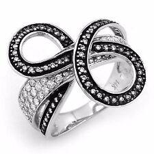 Unique .75ctw Diamond Ring 14k Solid White Gold