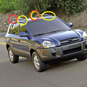 For Hyundai Tucson 2004-2008 Roof Rack Side Rail Bars Mount End Cap Cover 4pcs