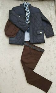 Boys 5-6 Years Couche oufit Tot Navy Jacket, chinos, shirt, scarf, hat Spanish