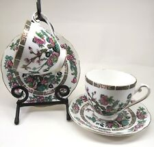 2 Royal Grafton Indian Tree Cup and Saucer 3 in Footed Scalloped  Bone China EUC