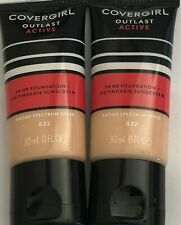 (2) Covergirl Outlast Active 24Hr Foundation, 832 Nude Beige Exp AU/20