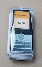 New For Sony Ericsson K750 K750i Silver Case Cover Holder Pouch