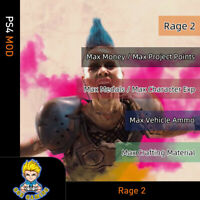 Rage 2 (PS4 Mod)-Max Money/Project Points/Medals/ Exp/Vehicle Ammo/Materials