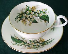 Consort Fancy LILY OF THE VALLEY Fine Bone China Cup & Saucer Vintage England