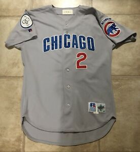 1998 RARE GAME WORN JEFF PENTLAND CHICAGO CUBS RUSSELL ROAD JERSEY 46