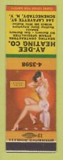 Matchbook Cover - Ay Dee Heating Schenectady NY pinup