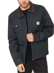 Men's Element Bronson Navy Quilted Canvas Jacket. Size M. NWT, RRP $169.99.
