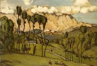 Oil painting Hans Thoma - Die Berge von Carrara the mountains of carrara canvas
