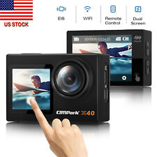 Campark X40 4K 20MP Action Sports Camera Dual TouchScreen EIS Vlogging Camera US