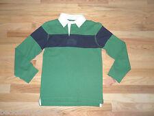 New Urban Pipeline Boys Long Sleeve Rugby Shirt Top Medium 10/12 Green Navy  NWT