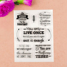 1 Sheet PE Transparent Clear Stamp Seal You Only Live Once DIY Scrapbooking New