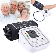 Auto Digital Upper Arm Blood Pressure Monitor LCD Heart Beat Pulse Meter Home