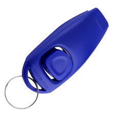 Dog Whistle + Clicker Ultrasonic Sound Non Silent Training Obedience Keychain