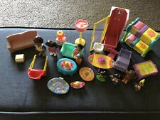 Dora The Explorer Talking Dollhouse Furniture & Dolls Toy Lot Of 25