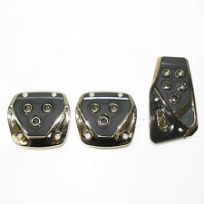 New Black Chrome Car Foot Pedal Covers For Fiat 500 Panda Uno Grande Punto