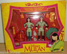 RARE Mattel disney Action Figure MULAN IN TRAINING complete in BOX 1998 - NEW