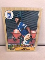 Bo Jackson Future Stars 170 for the Royals 1987 Topps baseball card
