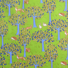 Japanese Cotton Fabric Forest Lime Green Remnant 48x55cm PC925