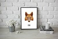 Geometric Pop Art - Concept - Nature Print Abstract Fox