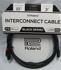 roland 10 ft black series 3.5 to dual rca cable rca to 3.5 ended cable black