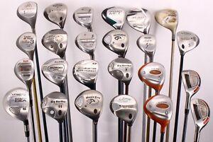 Lot of 24 Various Golf Club Woods Callaway Adams TaylorMade Cleveland Tour Edge