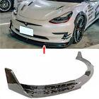 Fit FOR Tesla Model 3 Sedan Front Bumper Lip Spoiler V Type Forge Carbon Fiber
