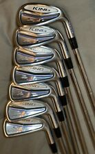 Cobra King Forged One Length 4-PW Iron Set Stiff Steel Excellent