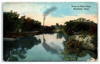 Early 1900s Scene in Mayo Park, Rochester, MN Postcard