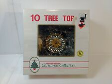 """Pleasures Pastimes Christmas Collection 8"""" Red Tree Top Decoration ch1660"""