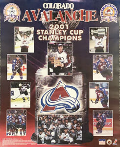 Colorado Avalanche 2001 Stanley Cup Champions 16x20 Starline Poster OOP