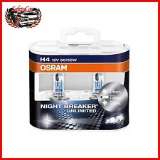 Kit lampadine alogene proiettori auto Osram H4 Night Breaker Unlimited +110%