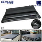 Fit For 82-13 Ford Ranger 94-11 Mazda 6Ft Bed Pickup Lock Tri-Fold Tonneau Cover