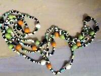 Vintage Art Glass Venetian or Bohemian multi color glass beads Necklace