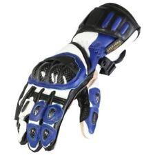 Gants bleus articulation en cuir pour motocyclette