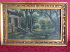 Quadro antico ad olio cornice dorata Liberty originale firmato oil painting