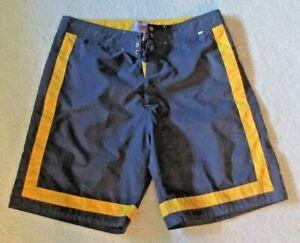 Evolver Mens Board Shorts Size 38 Gray Yellow Beach Surfing Pocket