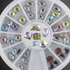 36PCS/Wheel Glitter Nail Art AB Rhinestones Manicure Decoration 3D Design Tool