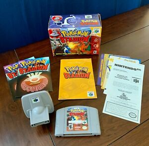 Pokemon Stadium N64 Complete in Box CIB with Game, Transfer Pak, Guide & Inserts