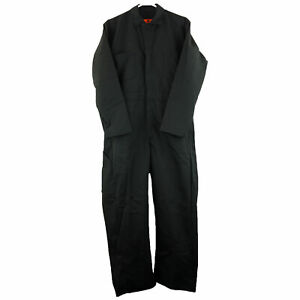Red Kap Men's Twill Action Back Coverall, Black, 40