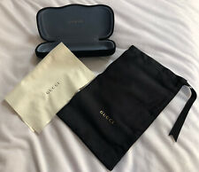 Gucci Black Velvet Hard Shell Case For Glasses With Bag And Lens Cloth