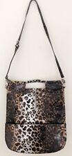 CLARITA Womens Purse XL Shoulder Bag  Removable Strap Animal Leopard Print Zip
