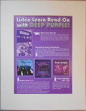 DEEP PURPLE Listen Learn Read On 2002 Music Press Poster Type Advert In Mount