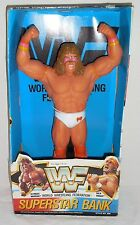 "Vintage WWF 1991 ULTIMATE WARRIOR 14"" No. 206 SUPERSTAR BANK Figure w/BOX - RARE"