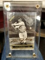 1993 Spectrum Lou Gehrig Authentic 24K Gold Signature Card in Case