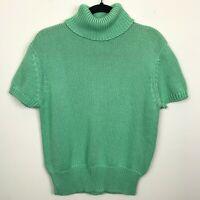 Talbots Short Sleeve Knit Turtleneck Sweater Size Medium