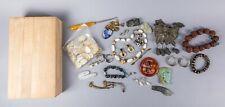 Estate Box of Jade, Agate & Jewelry