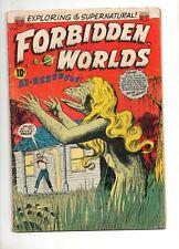 Forbidden Worlds #33 SCARCE! ACG, 1954 Landau Art VG- 3.5 Complete Horror Reader
