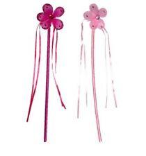 Fiore Principessa Fata Bacchetta Magica Glitter Dettaglio Costume nastri Ragazze Sparkle