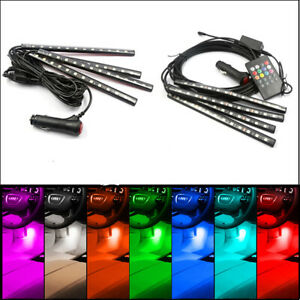 Car Interior 48 LED RGB Strip Lights Atmosphere Footwell Decor Bar Neon Lamp 12V