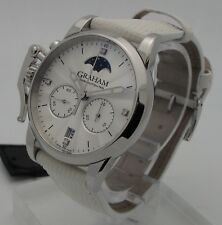Graham Chronofighter Classic Lady Moon White Lizard 2CXBS.S06A.L107S